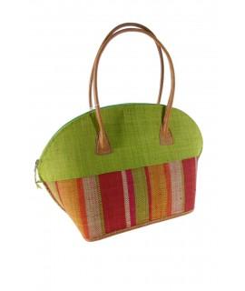 Bolso de Ráfia -color Verde-