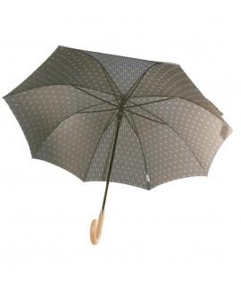 Parapluie auto-ouvrant imprimé marron pour gentleman grand parapluie avec tiges en fibre cadeau de fête des pères