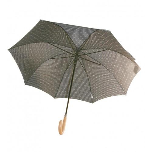 Paraigües amb obertura automàtica de color marró i estampat per senyor paraigües gran amb varetes de fibra regal per al dia de e