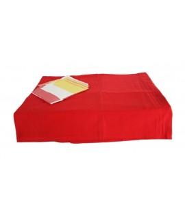 Mantel Rojo 6 Servilletas