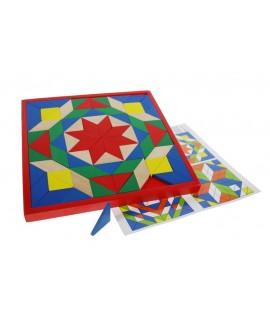 Trencaclosques de mosaic en fusta amb diversos colors cridaners
