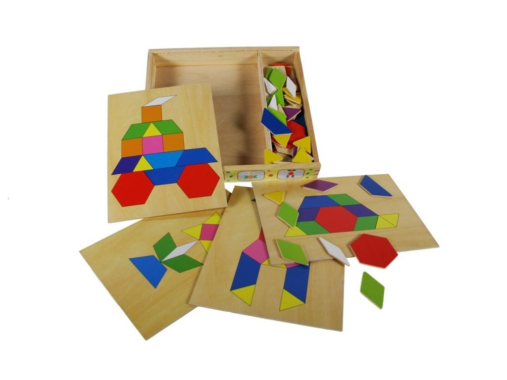 Puzzle caja mosaico de madera juego de motricidad - Mosaico de madera ...