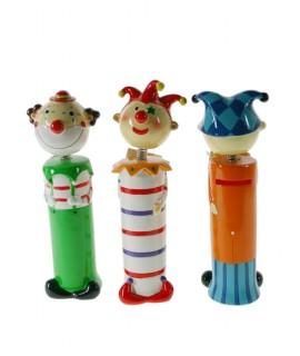 Tirelire pour enfants en forme de clown en céramique