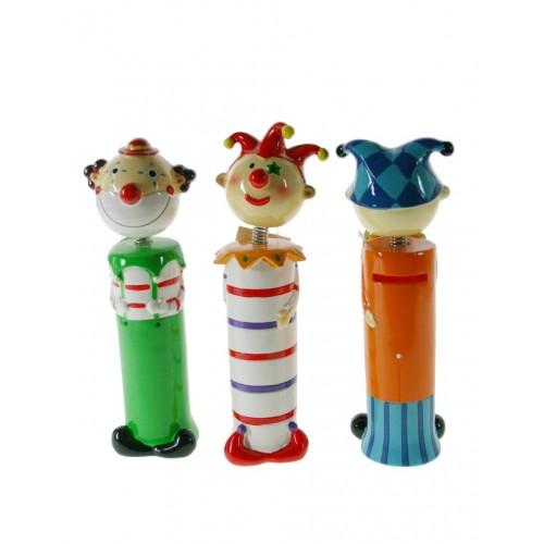 Hucha para niños con forma de payaso de cerámica