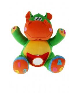 Hippo en tissu pour bébé au toucher coloré et doux