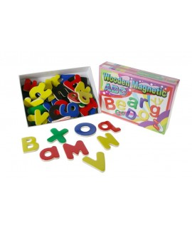 Jeu de lettres alphabet magnétique en bois pour enfants