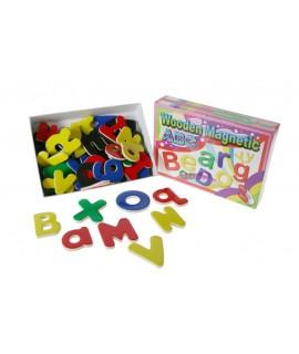Puzzle Juego de letras abecedario magnéticas de madera para niños