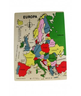 Puzle de madera países de Europa