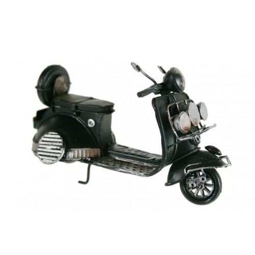 Rèplica de moto vespa scooter en metall color negre. Estilo vintage