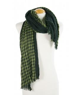 Foulard Cuadros color verde negro