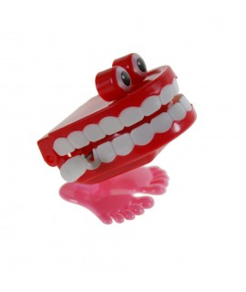 Jeu de corde jouet pour enfants sautant des dents aux yeux rouges