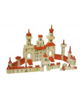 Caja de construcción castillo en madera multicolor puzles