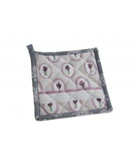 Manopla y agarradera de tejido acolchado para cocina