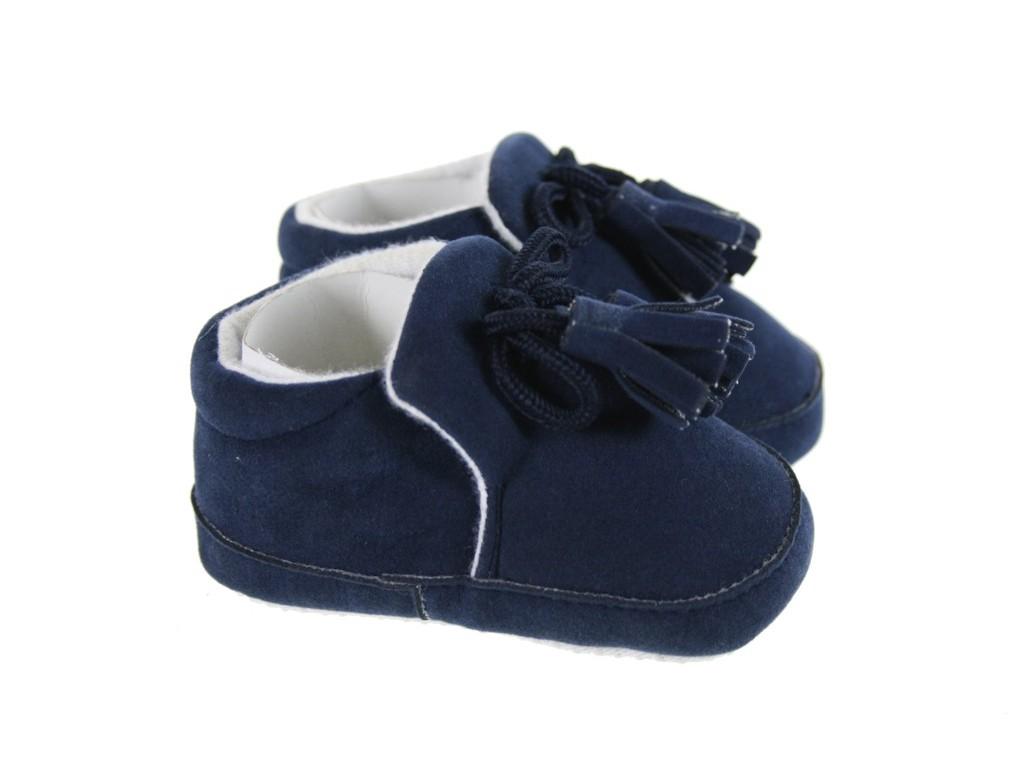 Zapato Infantil -color Azul- Talla 3-6 meses