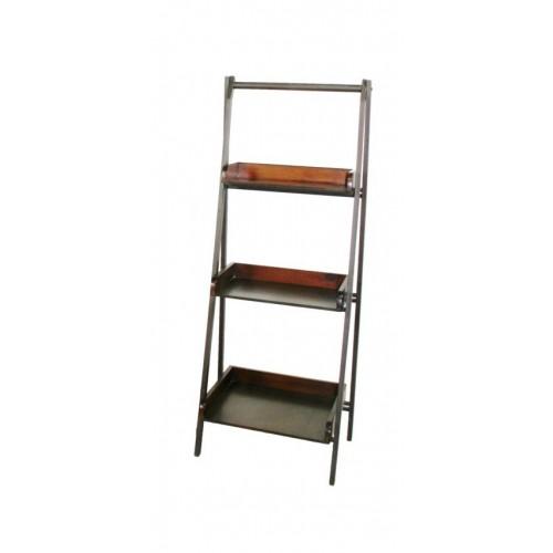 Librería de madera y metal pequeña