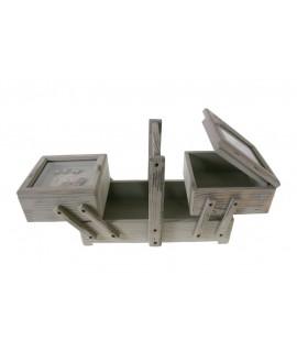 Cosidor de fusta amb finestra color gris