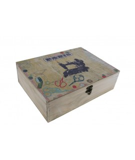 Caja de madera para costura París