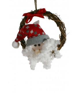 Corona de Navidad Papa Noel