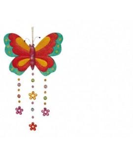 Mariposa metálica colorida