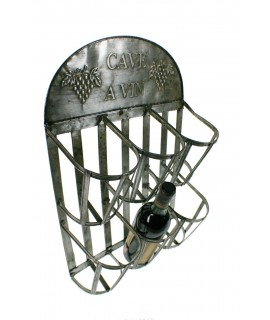 Botellero de metal para colgar