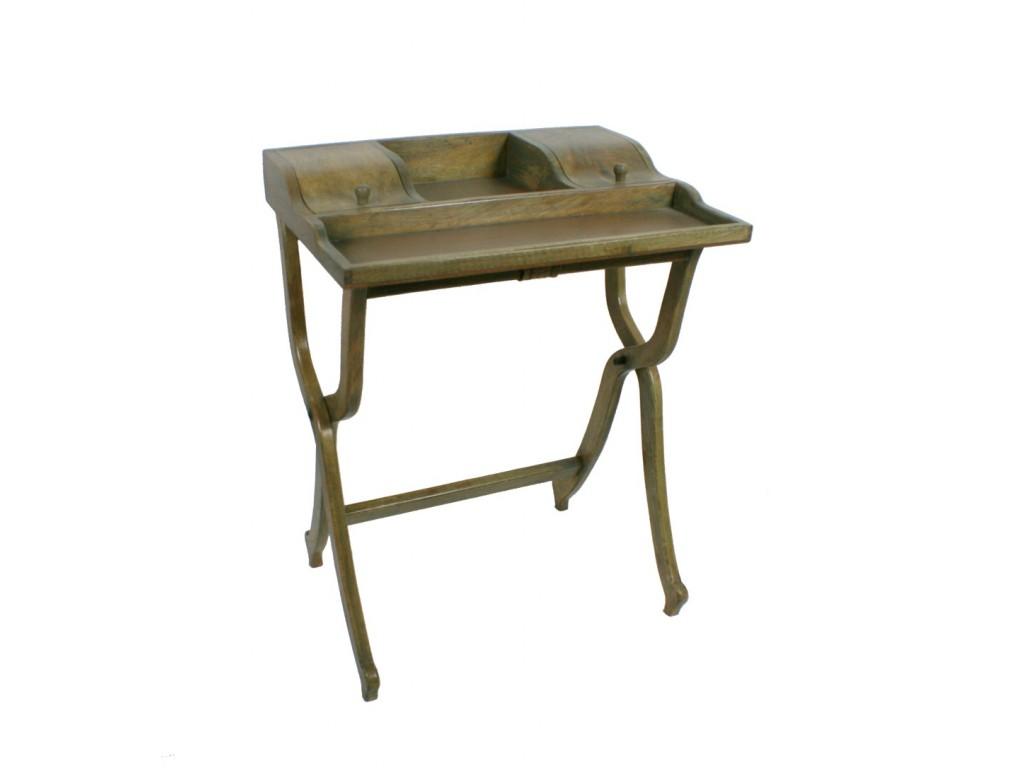 Mueble auxiliar escritorio de madera maciza de color roble estilo vintage