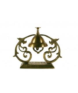 Cloche de décoration d'hôtel en métal. Dimensions: 14x17x6 cm.
