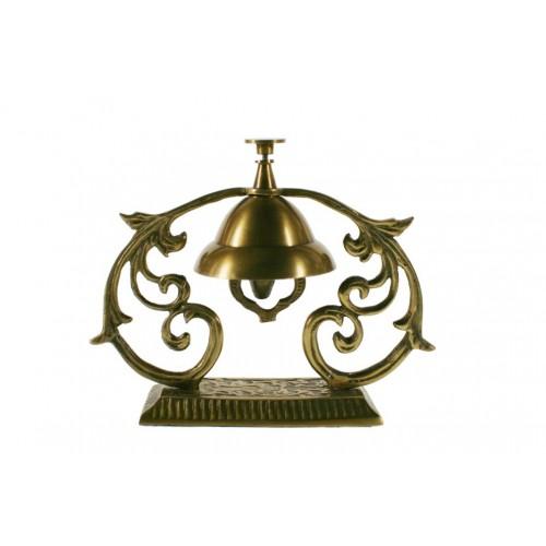 Décoration de cloche d'hôtel en métal pour table