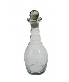 Ampolla de vidre clàssica amb detalls en relleu