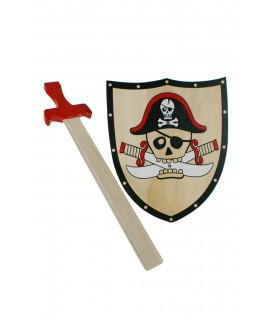 Épée et bouclier de pirate