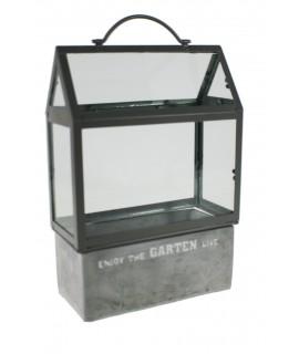 Invernadero cemento y cristal