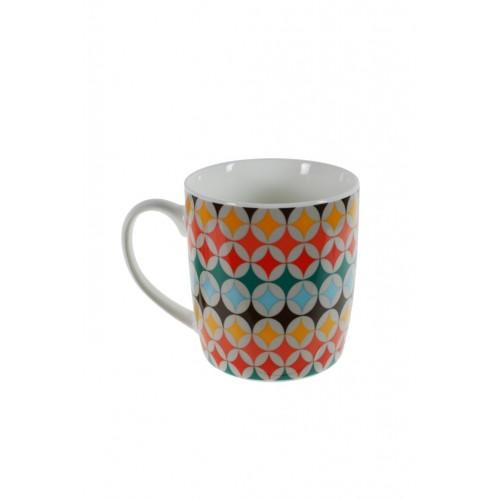 Taza de cerámica decorada