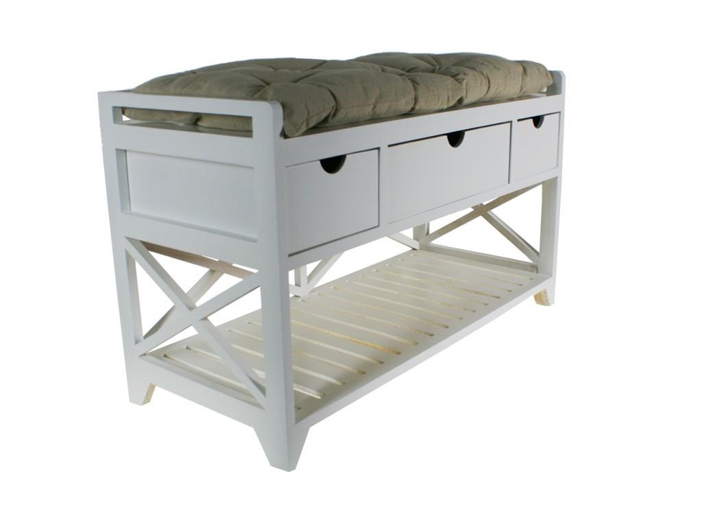 banc avec deux coussins. Black Bedroom Furniture Sets. Home Design Ideas