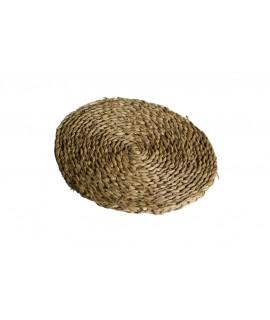 Salvamantel artesanal bajo plato de anea natural para mesa aislamiento térmico estilo vintage. Medidas: Ø 25 cm.