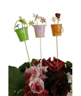 Tiestitos con flores