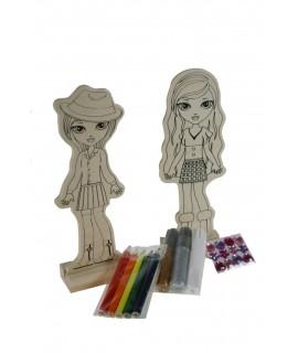 Muñecas para pintar