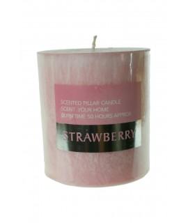 Bougie parfumée parfum fraise durée 50 heures parfum fruité