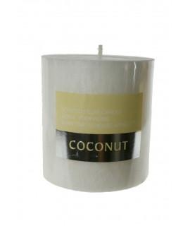 Vela aromática fragancia coco duración 50 horas para relajar ambiente