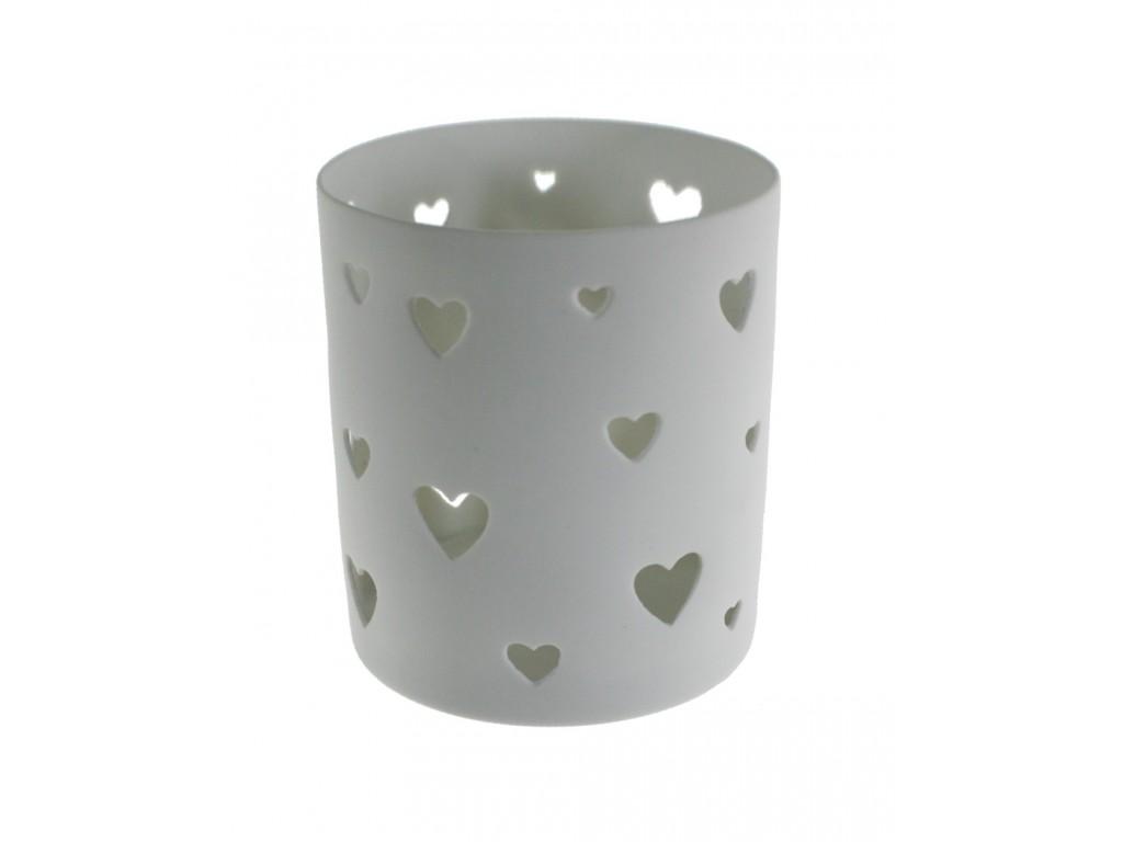 Porta velas de baso de cerámica en color blanco estilo nórdico