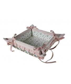 Moule à pain en tissu avec volants pour servir de la vaisselle de style vintage à pain