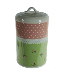 Bote de cocina de cerámica decorado estilo vintage