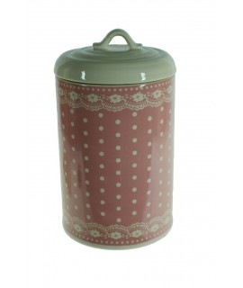 Bote de cerámica decorado