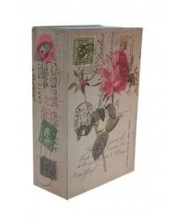 Caja libro con llave