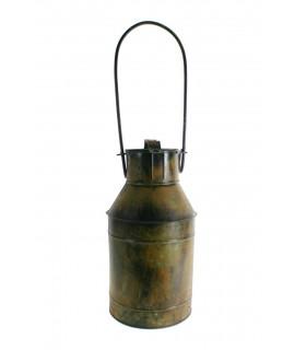 Lletera de xapa en òptica antiga amb nansa de transport