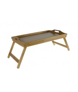 Safata amb potes desplegables de fusta de bambú