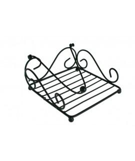 servilletero rustico color negro para servilletas individuales