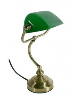 Étude de lampe de bureau de banquier vintage et décoration de maison de travail