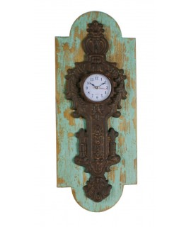 Rellotge de paret fusta i metall