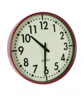 Rellotge de paret vermell