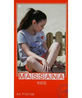 Pyjama fille Massana short d'été bleu taille 16