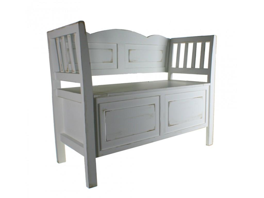 Comprar bancos y banquetas estilo vintage de madera con ba l en asiento de color blanco - Bancos de madera para banos ...